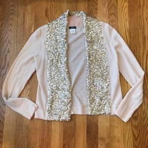 J Crew merino wool sequined shawl cardigan - S
